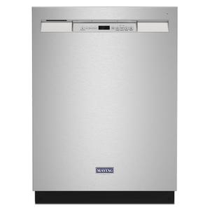 MaytagStainless steel tub dishwasher with Dual Power filtration