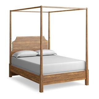 See Details - Midtown Maple Queen Poster Bed w/Canopy