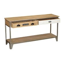 View Product - Sofa/Console Table - Natural/Iron Finish