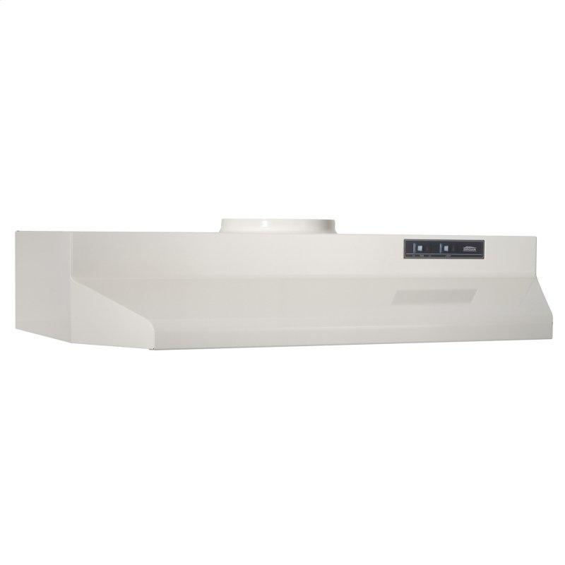 Broan® 30-Inch Under-Cabinet Range Hood, Bisque