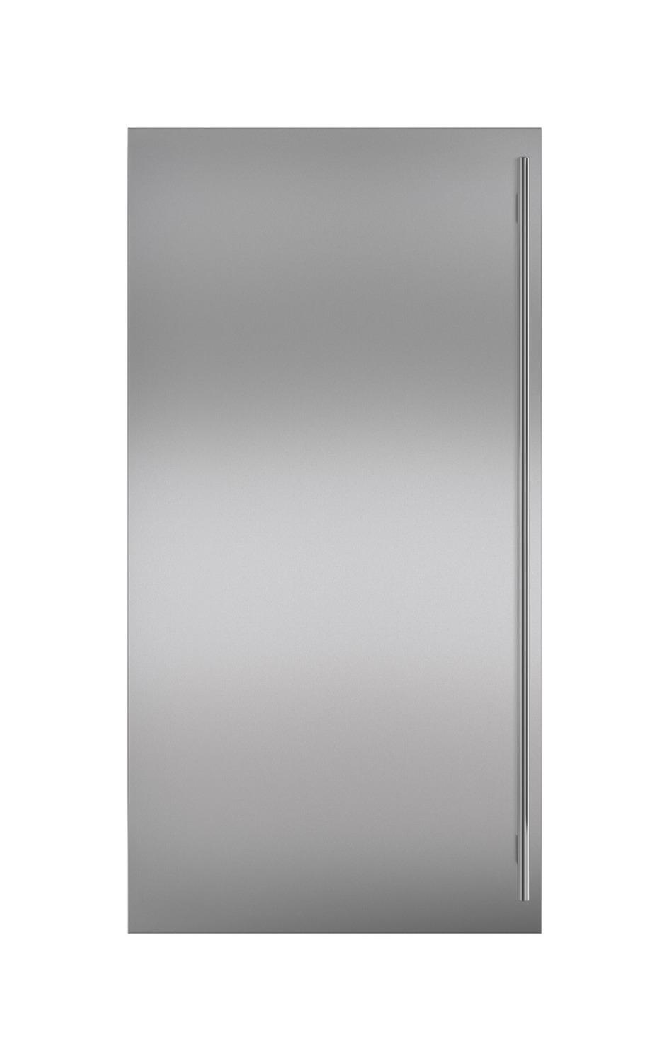 SubzeroStainless Steel Dual Flush Inset Door Panel With Tubular Handle