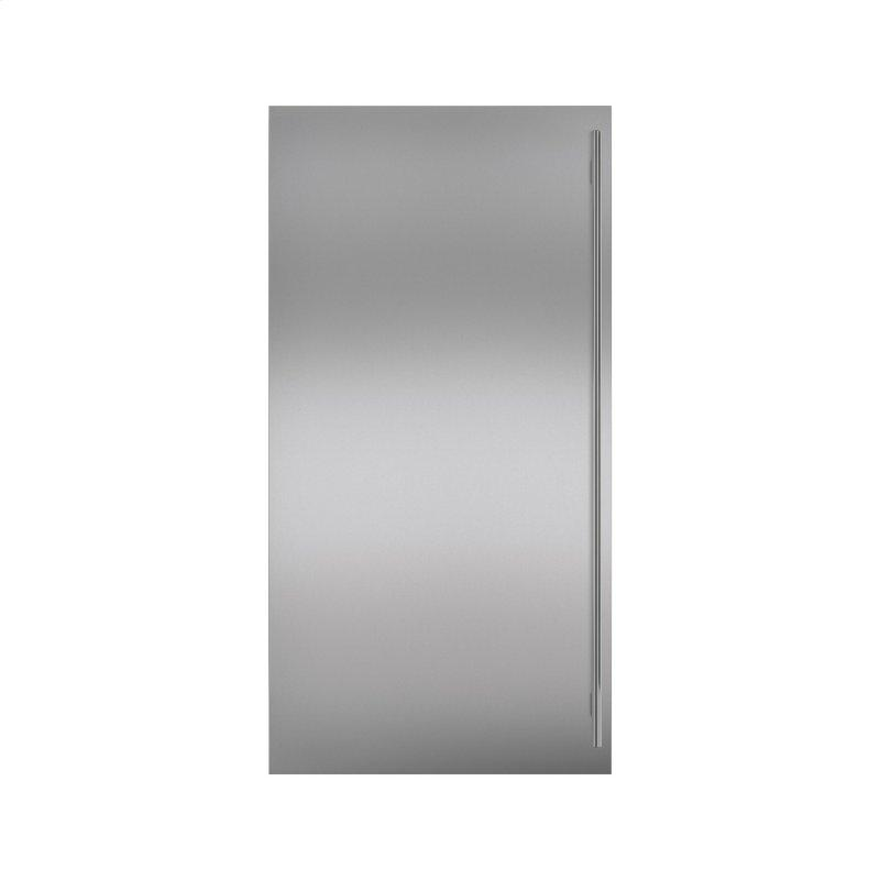 Stainless Steel Dual Flush Inset Door Panel with Tubular Handle