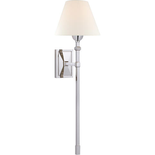 Alexa Hampton Jane 1 Light 8 inch Polished Nickel Single Tail Sconce Wall Light, Large