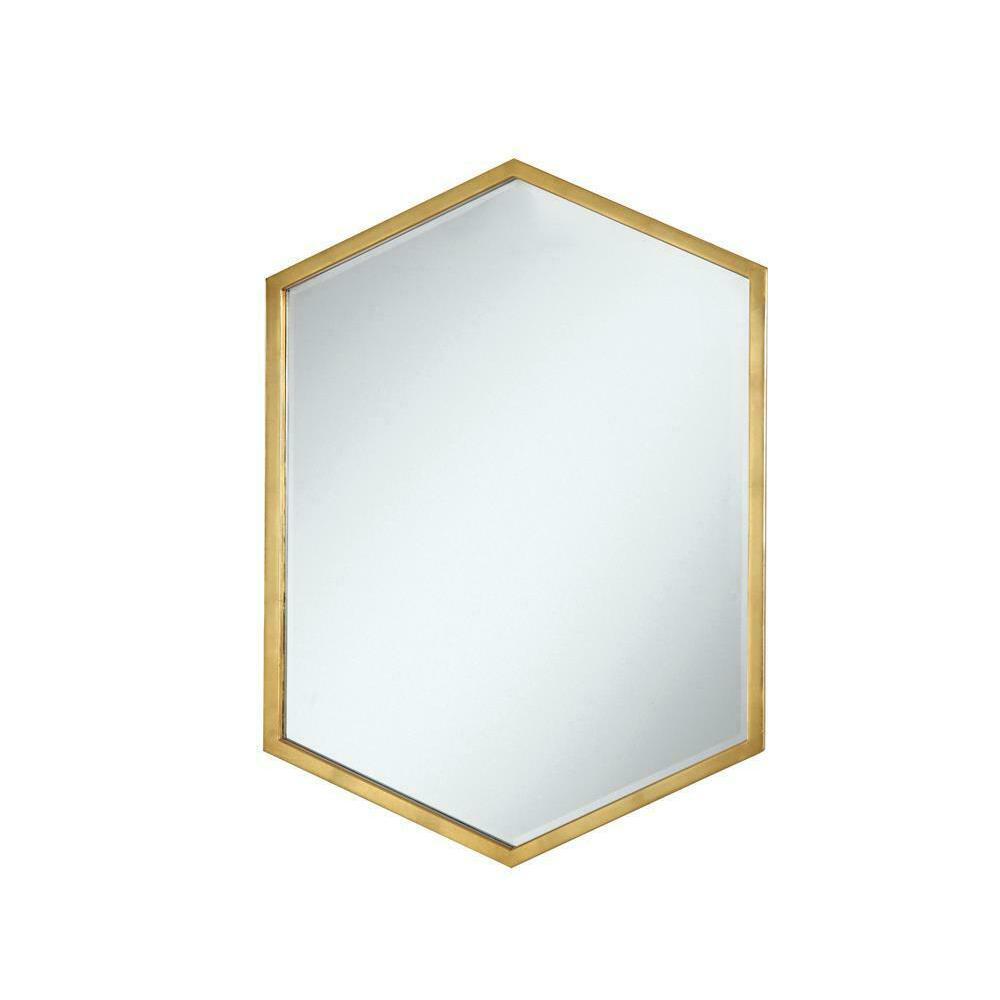 See Details - Unique Hexagon Shaped Mirror