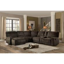 Product Image - 6-Piece Modular Reclining Sectional with Left Chaise