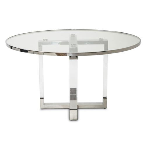 Amini - Round Dining Table W/glass Insert (2 Pc)