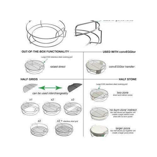 Big Green Egg - EGGspander 5 Piece Kit for Large EGG