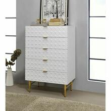 ACME Maisey II Chest - 97674 - White & Gold