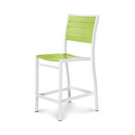 Polywood Furnishings - Eurou2122 Counter Side Chair in Satin White / Lime