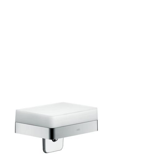 Chrome Liquid soap dispenser with shelf