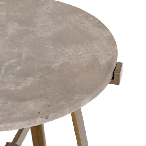 Aline Nightstand-taupe Marble