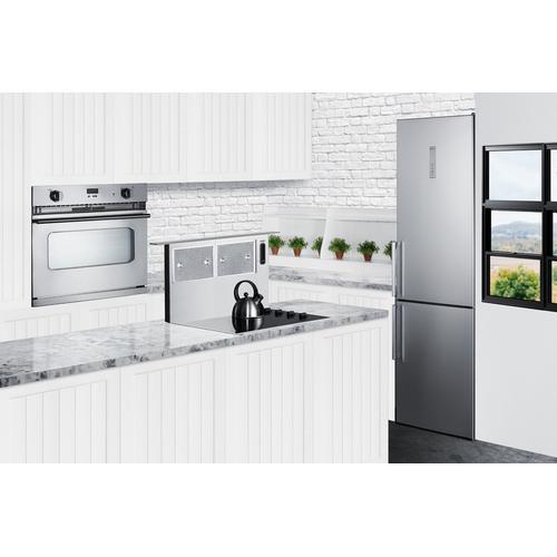 "Summit - 24"" Wide Bottom Freezer Refrigerator With Icemaker"
