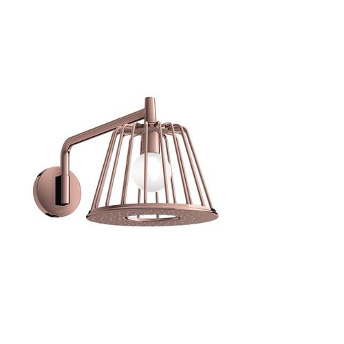 Polished Red Gold LampShower 275 1jet with shower arm