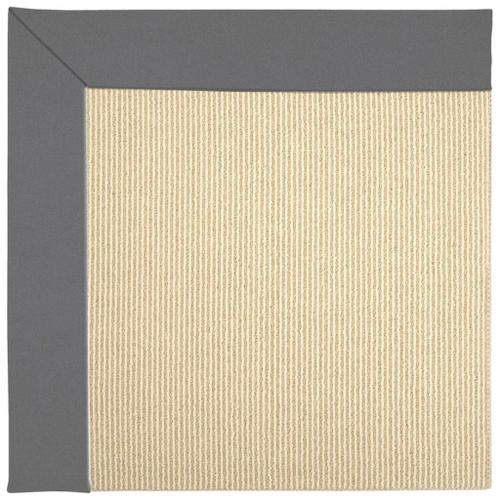 Capel Rugs - Creative Concepts-Beach Sisal Canvas Charcoal - Rectangle - 4' x 6'