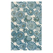 View Product - Flower Pop Peacock - Rectangle - 8' x 10'