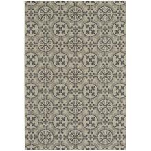 Finesse-Tile Charcoal Machine Woven Rugs