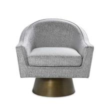 Modern Swivel Chair With Painted Bronze Base In P02