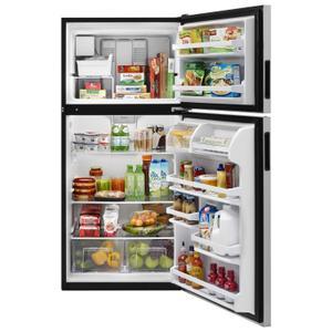 Whirlpool  30-inch Wide Top Freezer Refrigerator - 18 cu. ft. Fingerprint Resistant Stainless Steel