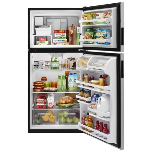 Whirlpool - 30-inch Wide Top Freezer Refrigerator - 18 cu. ft. Fingerprint Resistant Stainless Steel