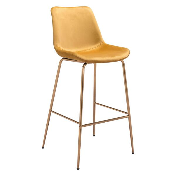 See Details - Tony Bar Chair Yellow & Gold