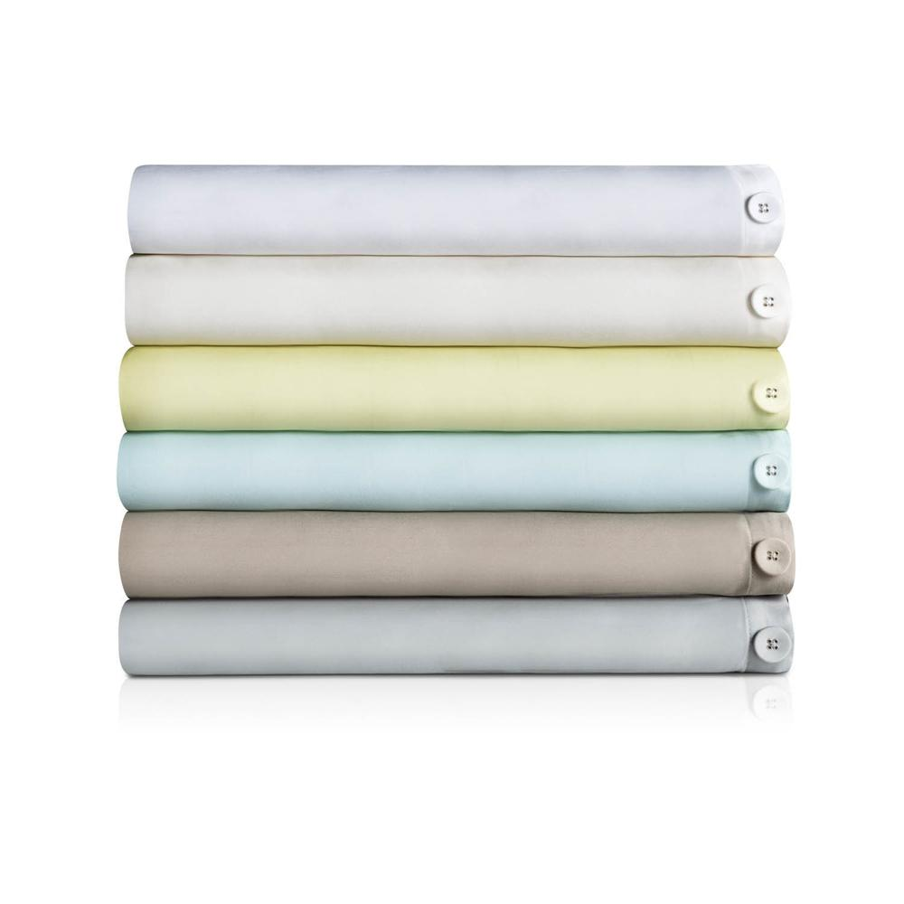 Rayon From Bamboo Duvet Set Queen Driftwood