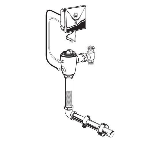 American Standard - Selectronic Concealed Toilet Flush Valve for Floor-Mount Back Spud Bowls - No Finish