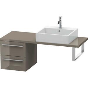 Low Cabinet For Console Compact, Flannel Gray High Gloss (lacquer)