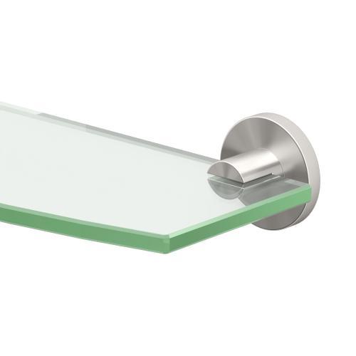 Channel Glass Shelf in Satin Nickel