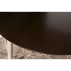 Gallery - Mayson Round Dining Table, Gray With Chocolate Top
