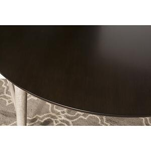 Mayson Round Dining Table, Gray With Chocolate Top