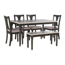 See Details - Willow 6 PC Grey Dining Set