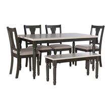 Willow 6 PC Grey Dining Set