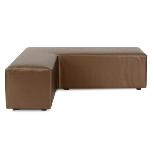 L Ottoman Luxe Bronze Cover (Cover Only)
