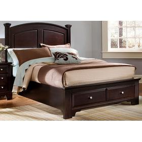 Panel Bed with Storage Footboard