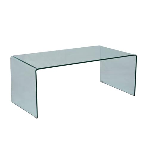 Clarity Bent Glass Cocktail Table