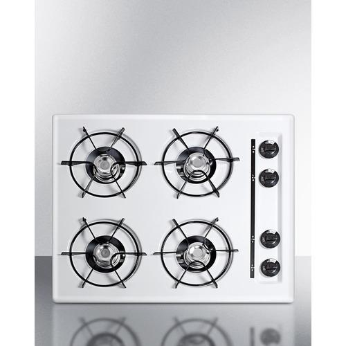 "Summit24"" Wide 4-Burner Gas Cooktop"
