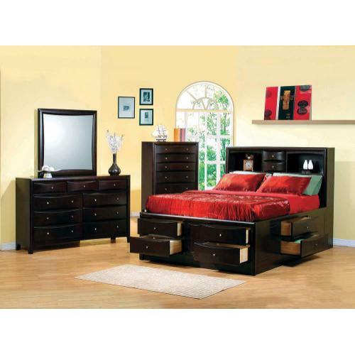 Gallery - Phoenix Cappuccino King Four-piece Bedroom Set