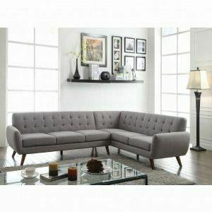 ACME Essick Sectional Sofa - 52765 - Light Gray Linen