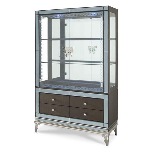 Curio With Drawer Base