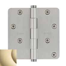 "Lifetime Polished Brass 1/4"" Radius Corner Hinge"