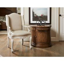 Product Image - Thoroughbred Curlin Upholstered Arm Chair - White Gesso
