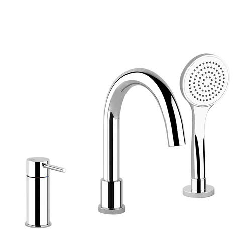Gessi - Three-hole roman tub set Diverter in the spout