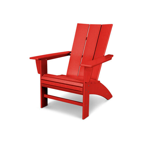 Sunset Red Modern Curveback Adirondack Chair