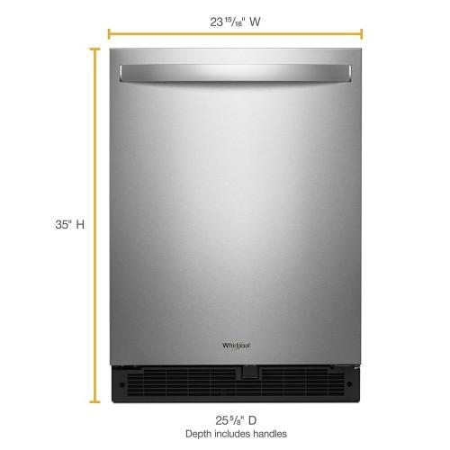 Whirlpool - 24-inch Wide Undercounter Refrigerator - 5.1 cu. ft.