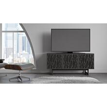 View Product - Elements 8777 Media Media Cabinet in Wheat Doors Charcoal Stained Ash