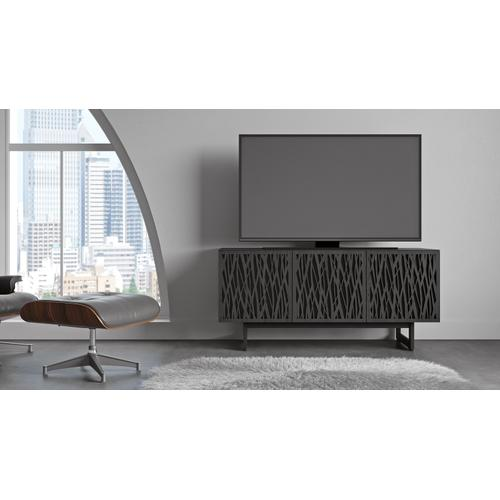 BDI Furniture - Elements 8777 Media Media Cabinet in Wheat Doors Charcoal Stained Ash