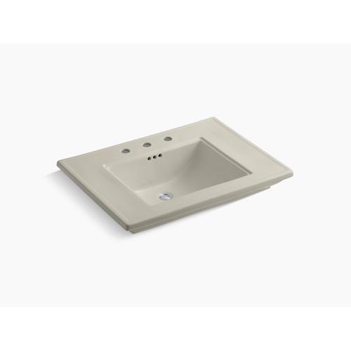 "Sandbar Pedestal/console Table Bathroom Sink Basin With 8"" Widespread Faucet Holes"
