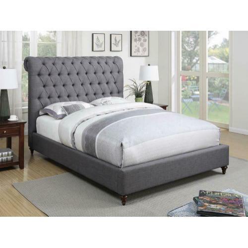 Devon Grey Upholstered King Bed