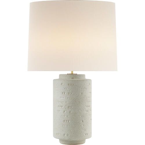 AERIN Darina 31 inch 100 watt Volcanic Ivory Table Lamp Portable Light, Large