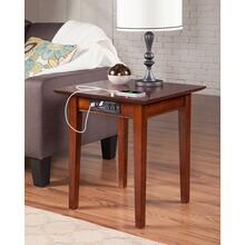 See Details - Shaker End Table with Charger Walnut